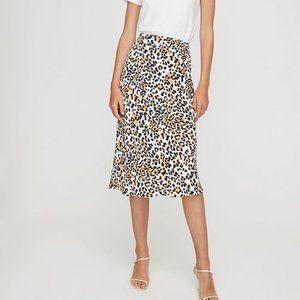 Aritzia Babaton Leopard Slip Skirt